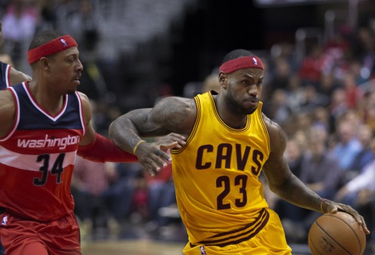 Does LeBron James play better when Kyrie Irving and Kevin Love are on the bench?
